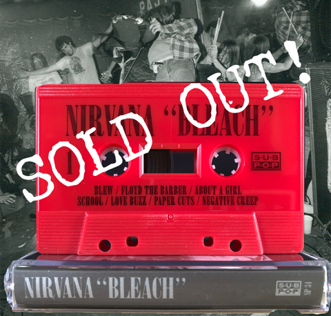 NIRVANA - Bleach [Love buzz red edition] - BRAND NEW CASSETTE TAPE [PRE-ORDER]