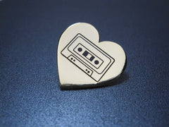 Cassette Love Hard Enamel Lapel Pin [sale]