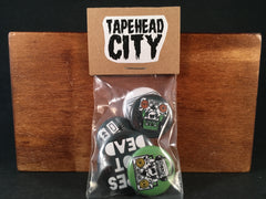 TAPEHEAD CITY PIN PACK (includes 5 pins) [SALE]