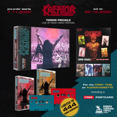 "KREATOR ""TERROR PREVAILS - LIVE AT ROCK HARD FESTIVAL"" DOUBLE TAPE BOX DELUXE"