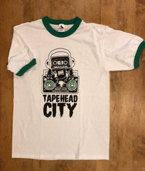 Tapehead City ringer shirt - white/kelly