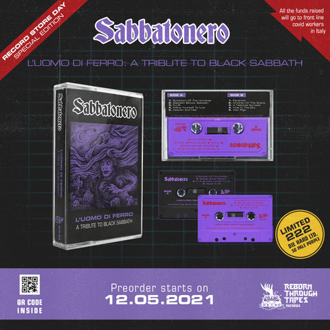 "SABBATONERO ""L'UOMO DI FERRO"" A Tribute to Black Sabbath - BRAND NEW CASSETTE TAPE [pre-order]"