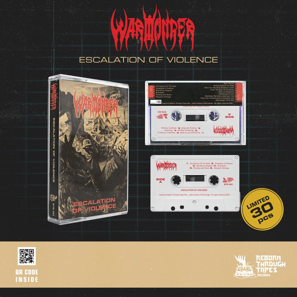 WARMONGER - escalation of violence - BRAND NEW CASSETTE TAPE [pre-order]