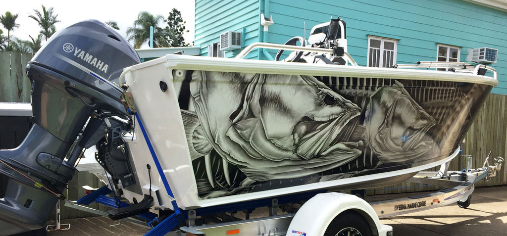 Barramundi Boat Wrap Quintrex renegade 460 - Hervey Bay, Queensland