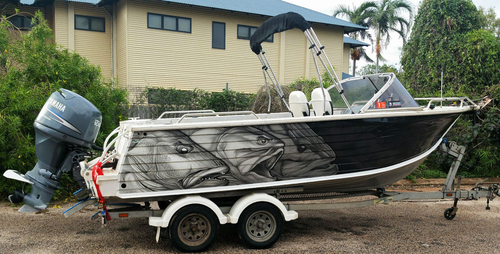 3 Stooges Boat Wrap, Mangrove Jack, King Salmon and Barramundi, Broome, W.A
