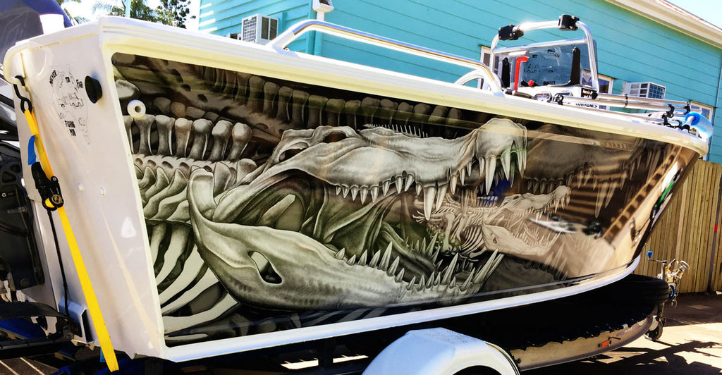 Crocodile Boat Wrap - Hervey Bay, Queensland