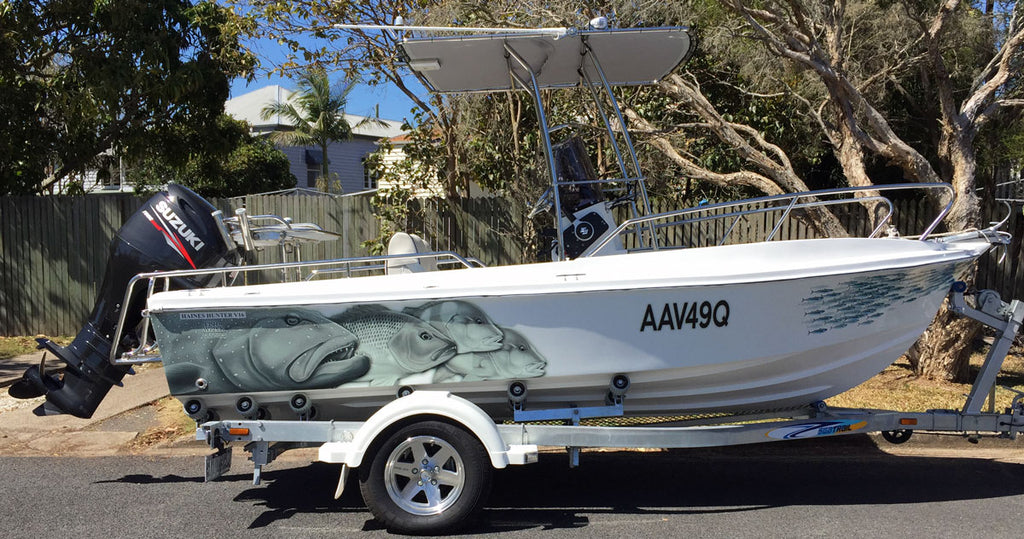 Reef Fish Boat Wrap - Haines Hunter - Sunshine Coast, Queensland