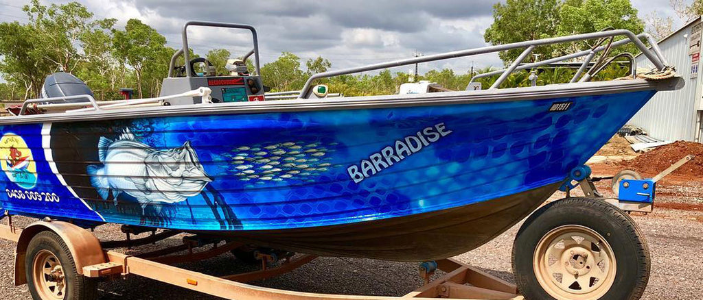 Katherine Boats and Floats Barramundi Boat Wrap