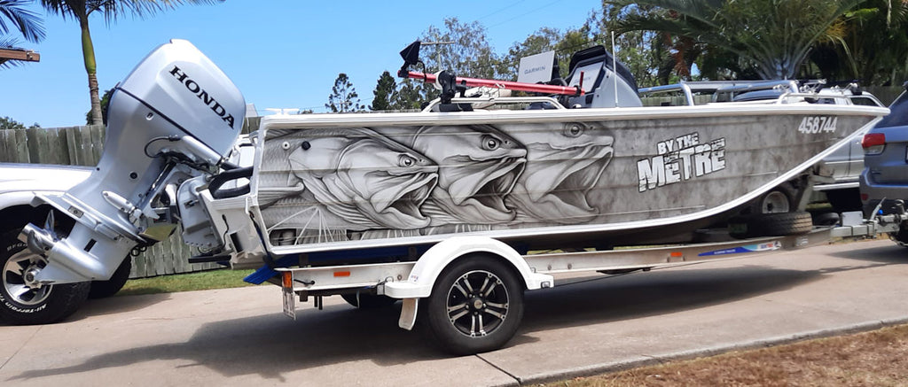 King Threadfin Salmon Boat Wrap - Sunshine Coast, Queensland