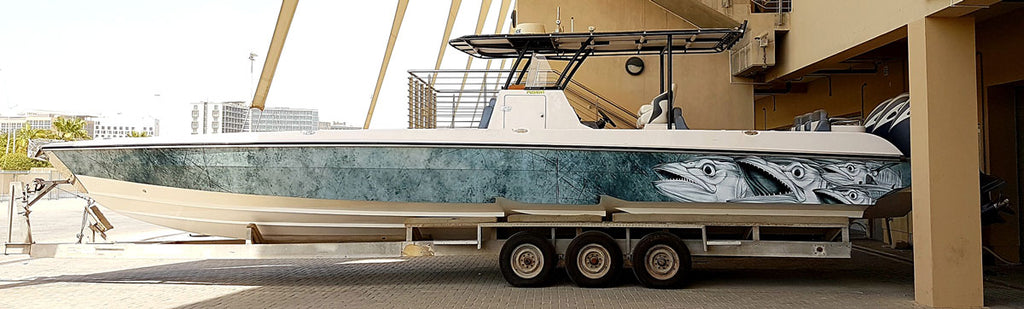 Spanish Mackerel Boat Wrap - Abu Dhabi, United Arab Emirates