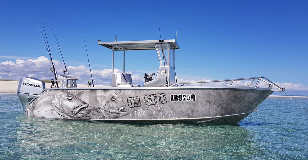 Manngrove Jack, Red Emperor Boat Wrap - Hervey Bay Queensland