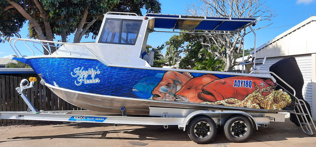 Reef Boat Wrap Maryborough Queensland