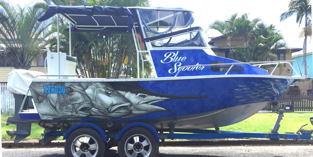 Snapper, Mangrove Jack, Marlin Boat Wrap - Hervey Bay, Queensland