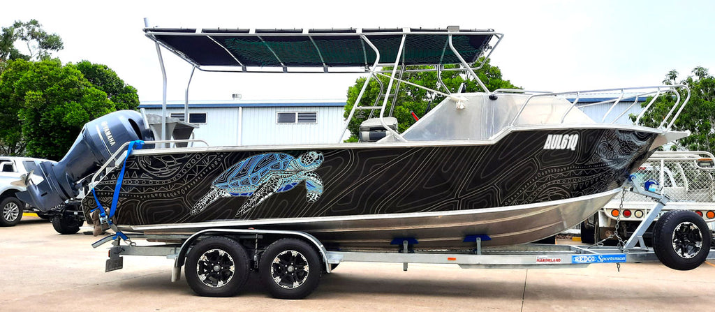 Turtle Boat Wrap - Agnes Waters, Queensland
