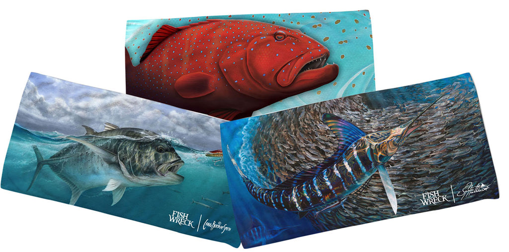 Coral Trout, GT, Marlin Beach Towels