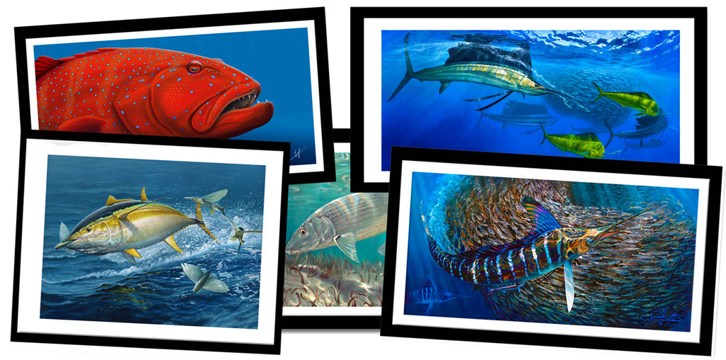 fishing Ocean Marlin Canvas Prints