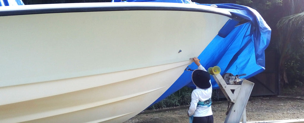 boat wrap glue removal