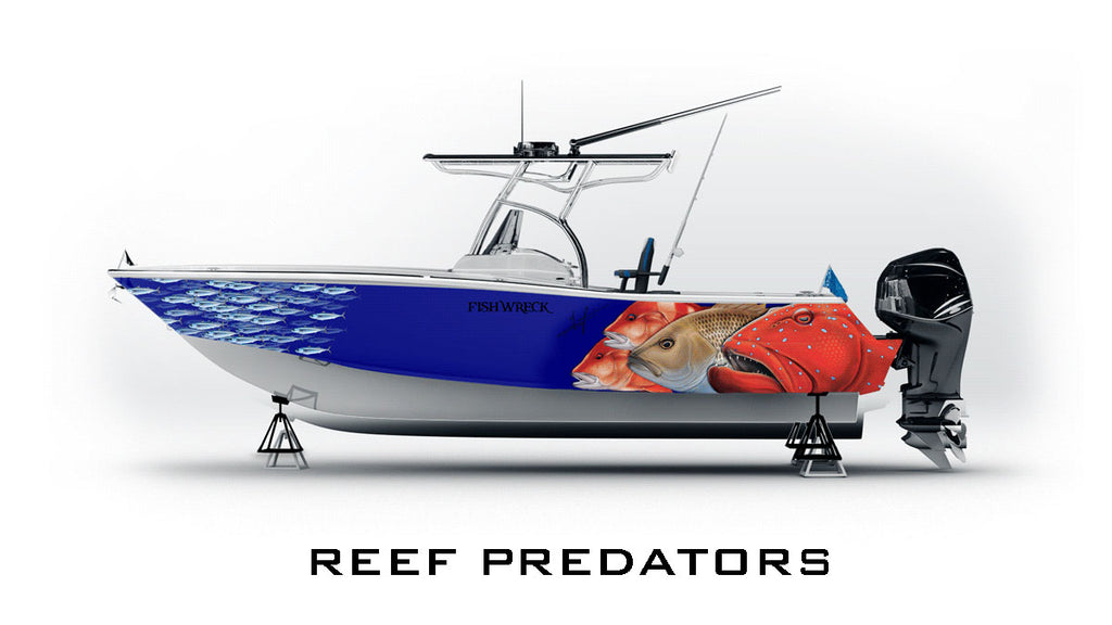 Reef Fish Boat Wrap, Coral Trout, Red Emperor