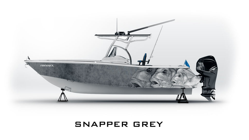 Snapper Boat Wrap Grey