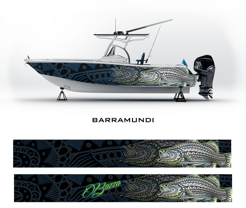 Barramundi Tribal Boat Wrap