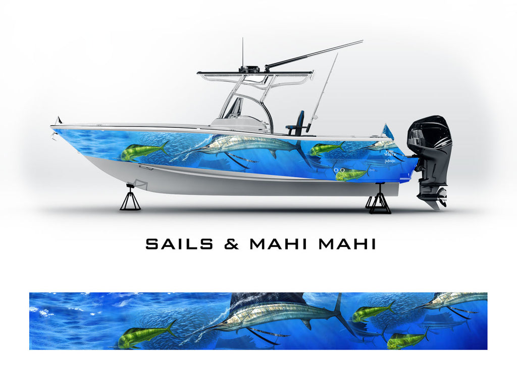 Sailfish, Mahi Mahi Boat Wrap