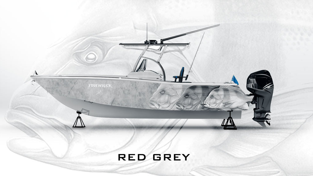 Red Emperor Boat Wrap Grey