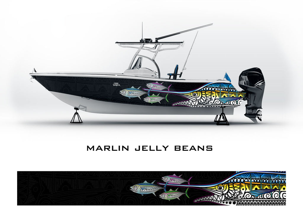 Marlin & Tuna Boat Wrap