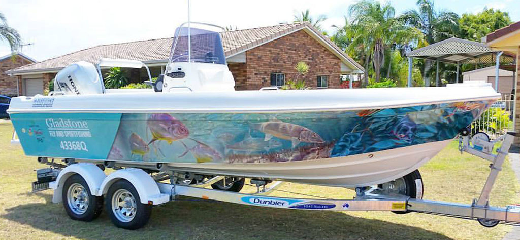 Permit, Bonefish and Tuna boat Wrap