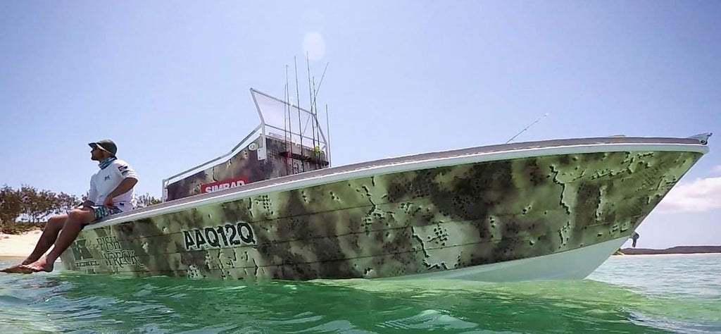 Camouflage Boat Wrap, Hervey Bay, Queensland