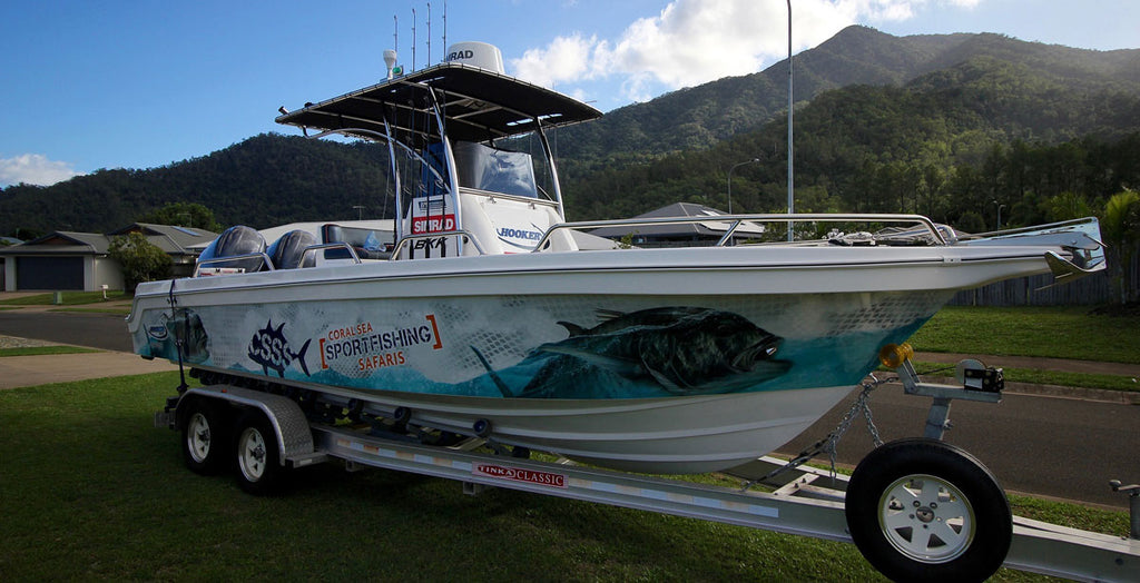 GT Boat Wrap, Coral Sea Sportfishing Safaris, Cairns, Qld.