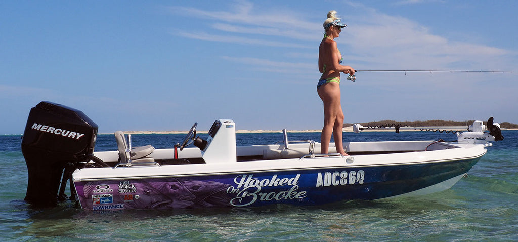 Hooked On Brooke Boat Wrap