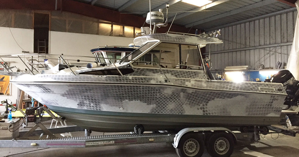 Insidious Camo Boat Wrap, Germany, United Kingdom