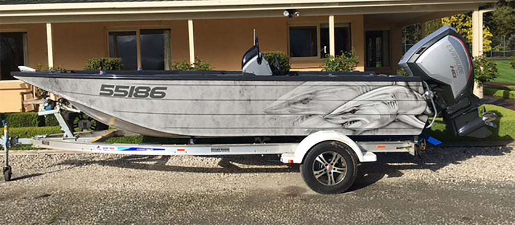 Mako Shark Boat Wrap