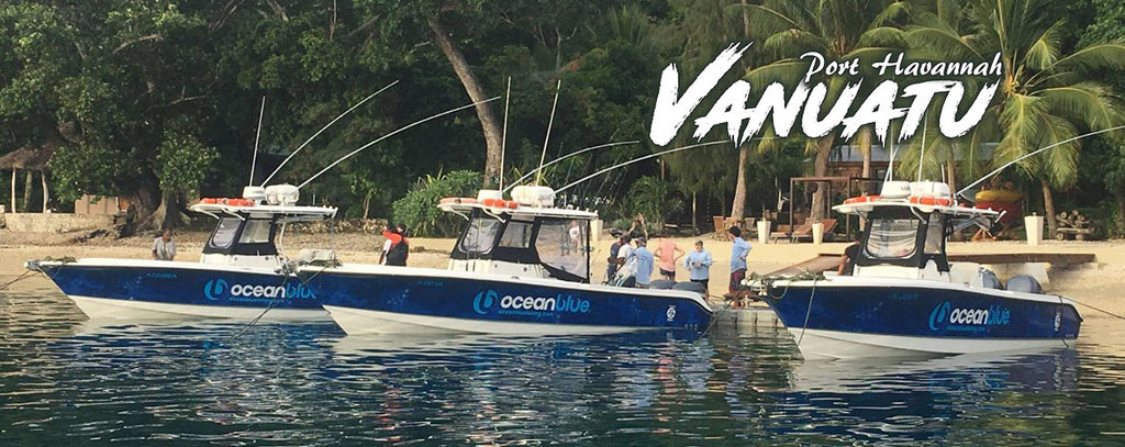 Camo Boat Wraps for Ocean Blue Fishing Vanuatu