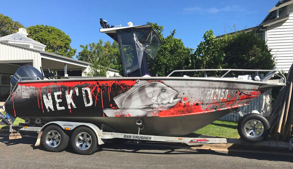 Red Emporer Boat Wrap