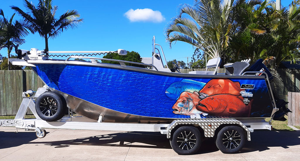 Reef Boat Wrap - Hervey Bay Queensland