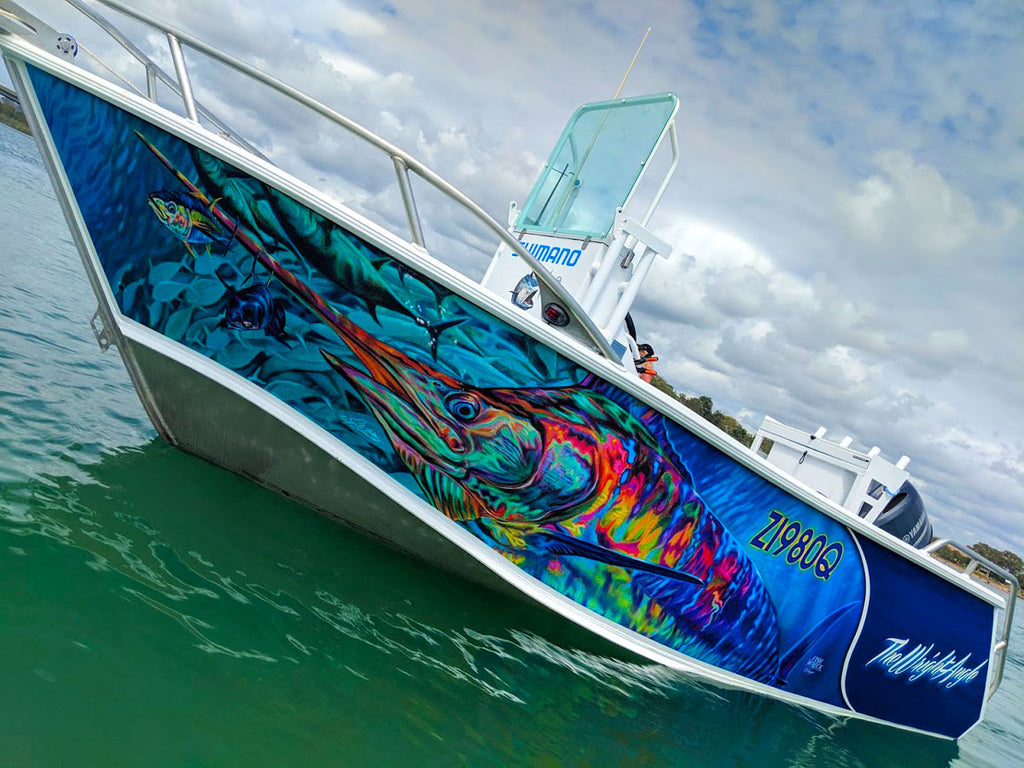 Marlin, Tuna Boat Wrap - Brisbane, Queensland