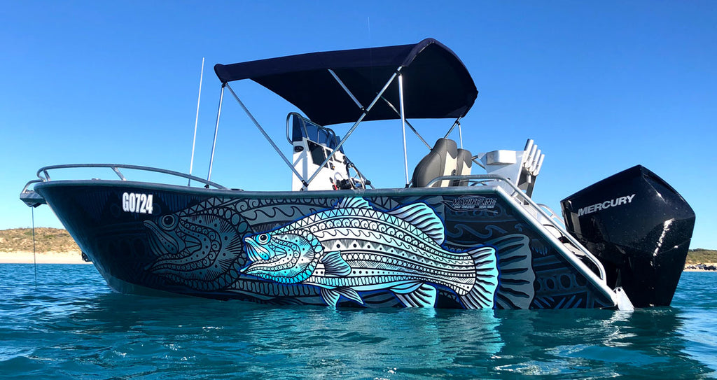 Tibal Barramundi Boat Wrap