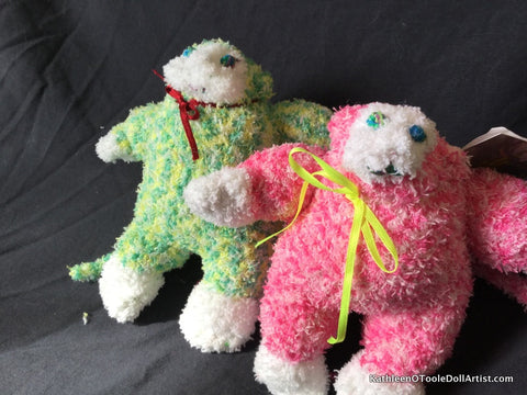 Fuzzy Sock Monkeys