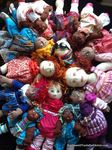 One of a Kind Cloth Dolls