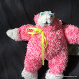 "Fuzzy Sock Monkey Pink  6."" 15 cm Top of ear to toe"