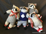 "Raccoon Doll - Grey Wool 12"" 30 cm"