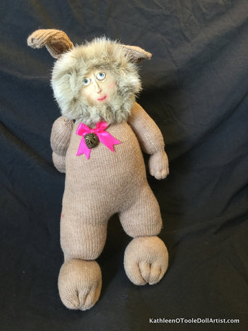 "Childhood Dreams Beige Bunny Doll 17"" 43 cm"