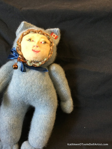 "Childhood Dreams Blue Kitty Doll 12"" 31 cm"
