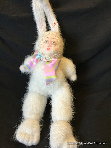 "Childhood Dreams White Bunny Doll 15"" 38 cm"