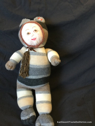 "Childhood Dreams Striped Kitty Doll 18"" 46 cm"