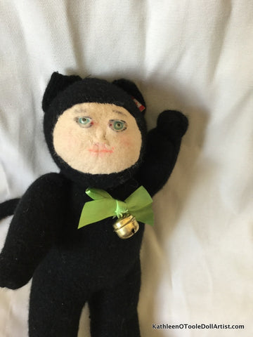 "Childhood Dreams Black Kitty Doll 13"" 33 cm"