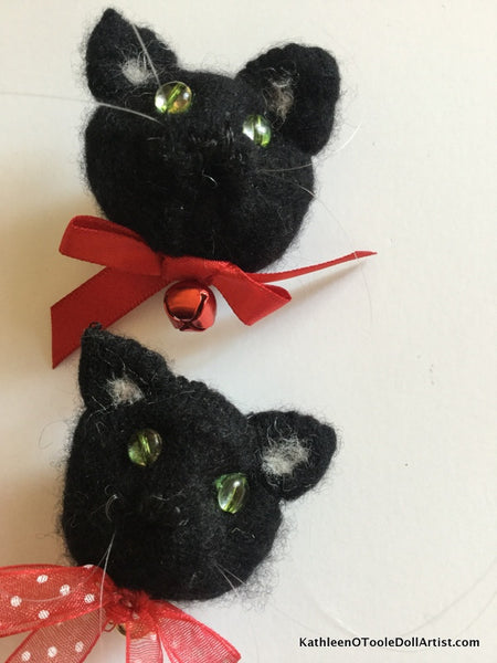 "Black Cat Mini Brooch 2"" 5 cm"