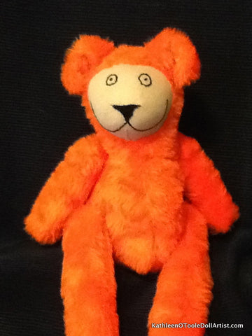 Happy Bear: Orange Faux Fur 40.5 cm / 16 ""