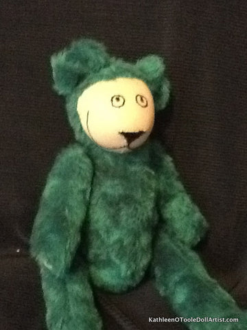 Happy Bear: Green Faux Fur 40.5 cm / 16 ""